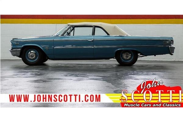 Ford Galaxie Convertible B-Code 406/385 Hp 4-Speed Super Rare 1963